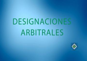 Designaciones arbitrales de la fase concentración de DH por equipos.