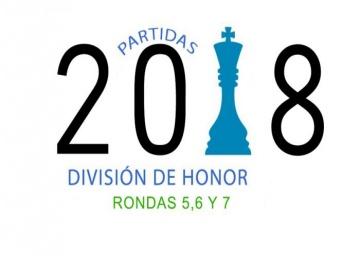 Partidas División de Honor 2018 - Rondas 5,6 y 7.