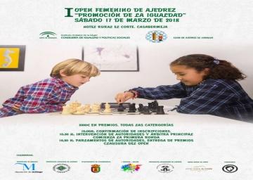 """I Open Femenino de Ajedrez """"Promoción de la Igualdad""""."""