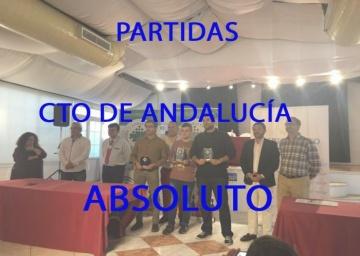 Partidas Cto Andalucía Absoluto - 2018